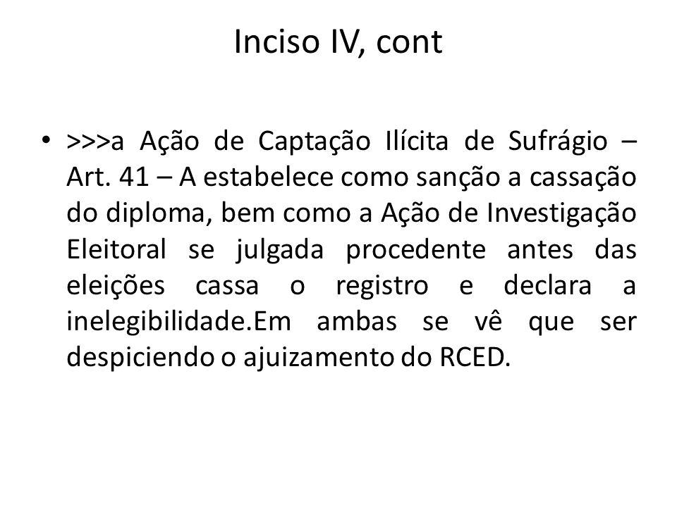 Inciso IV, cont