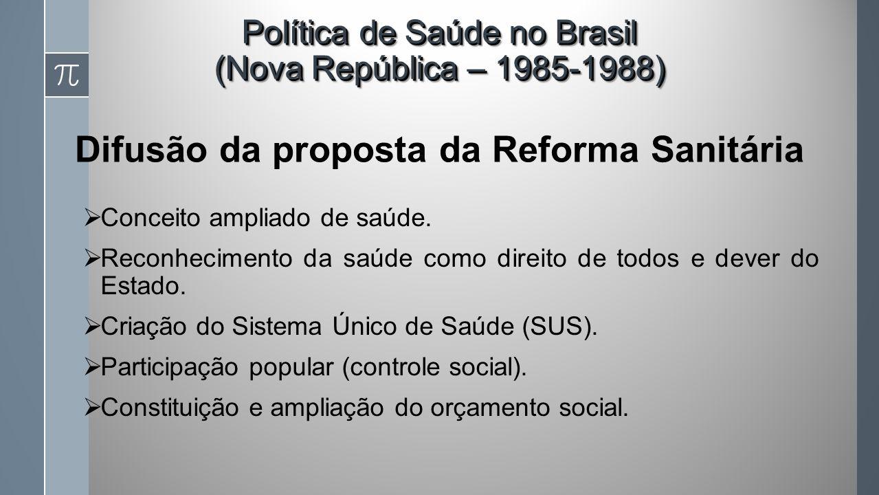 Difusão da proposta da Reforma Sanitária
