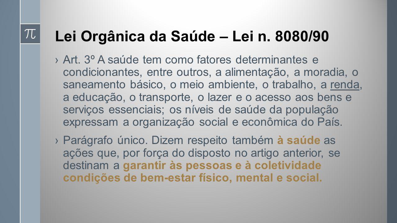 Lei Orgânica da Saúde – Lei n. 8080/90