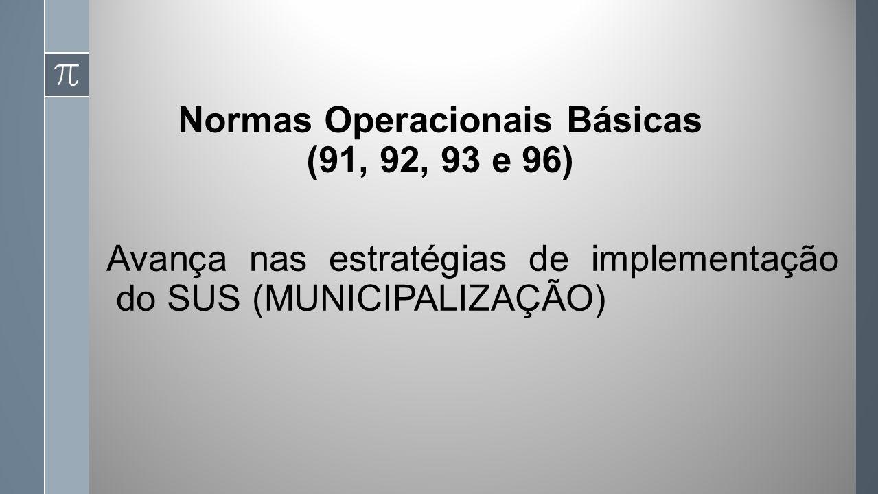 Normas Operacionais Básicas (91, 92, 93 e 96)