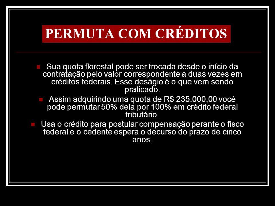 PERMUTA COM CRÉDITOS