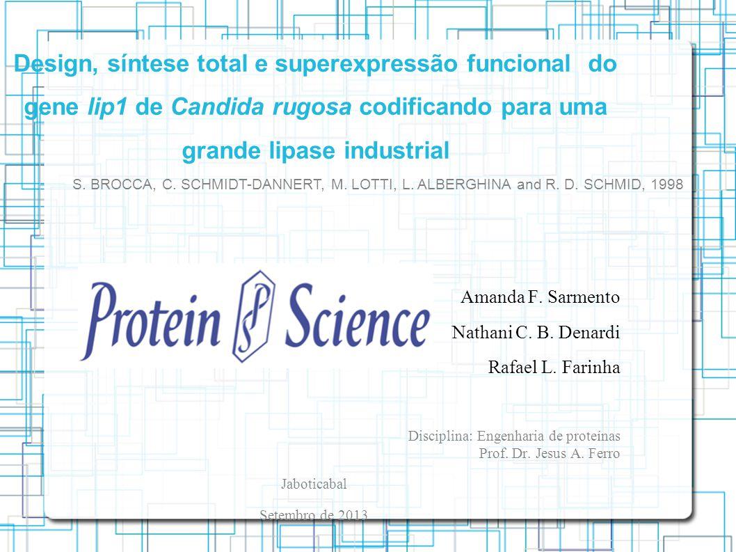 Design, síntese total e superexpressão funcional do gene lip1 de Candida rugosa codificando para uma grande lipase industrial