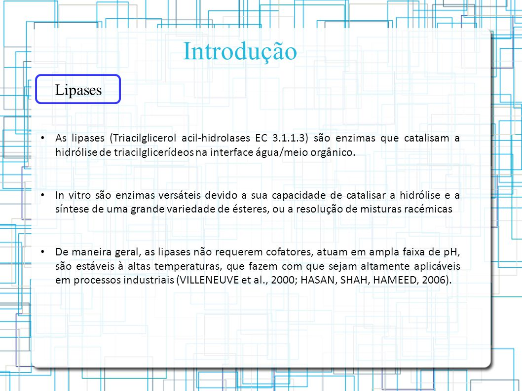 Introdução Lipases.