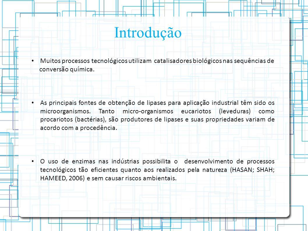 Introdução Muitos processos tecnológicos utilizam catalisadores biológicos nas sequências de. conversão química.