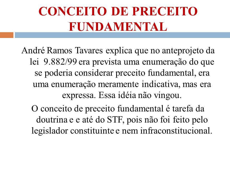 CONCEITO DE PRECEITO FUNDAMENTAL