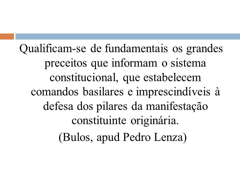 Qualificam-se de fundamentais os grandes preceitos que informam o sistema constitucional, que estabelecem comandos basilares e imprescindíveis à defesa dos pilares da manifestação constituinte originária.