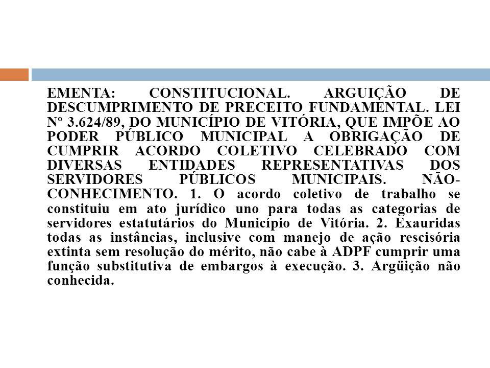 EMENTA: CONSTITUCIONAL