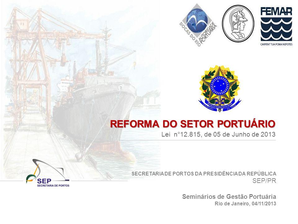 REFORMA DO SETOR PORTUÁRIO