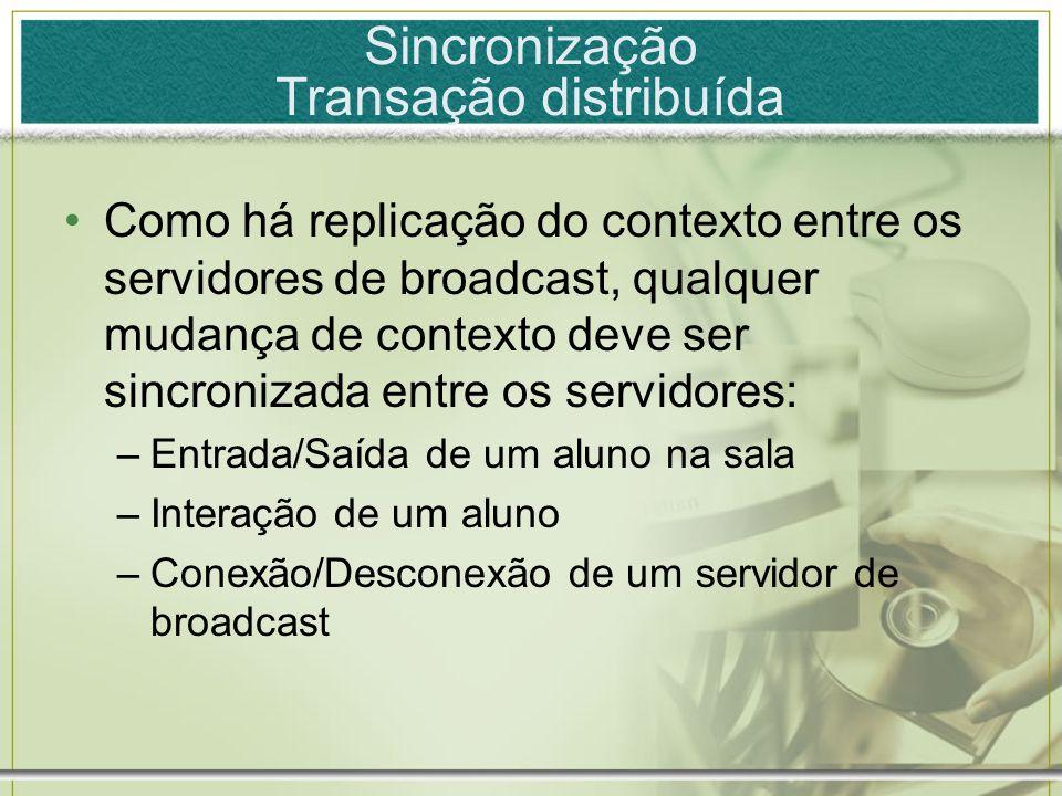 Sincronização Transação distribuída