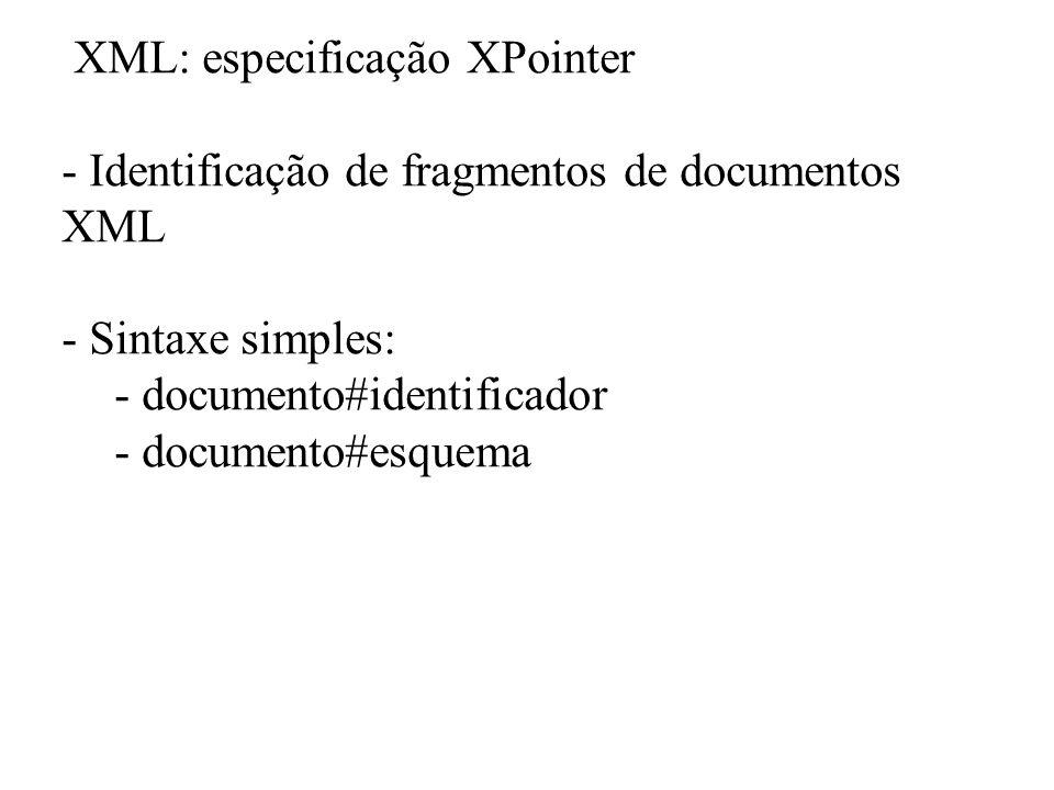 XML: especificação XPointer