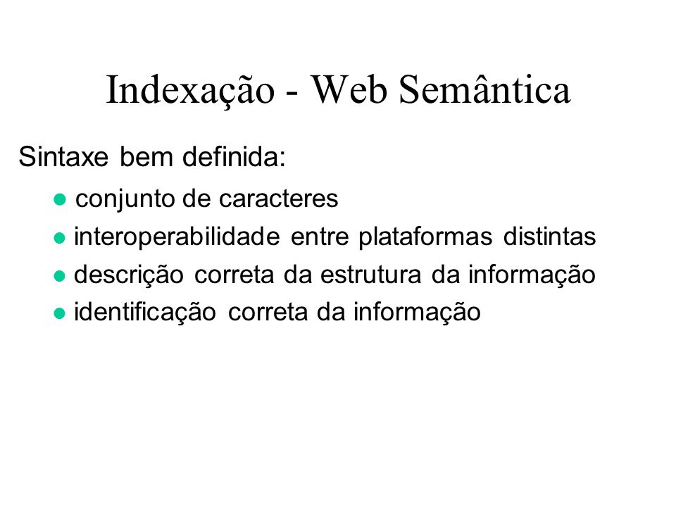 Indexação - Web Semântica
