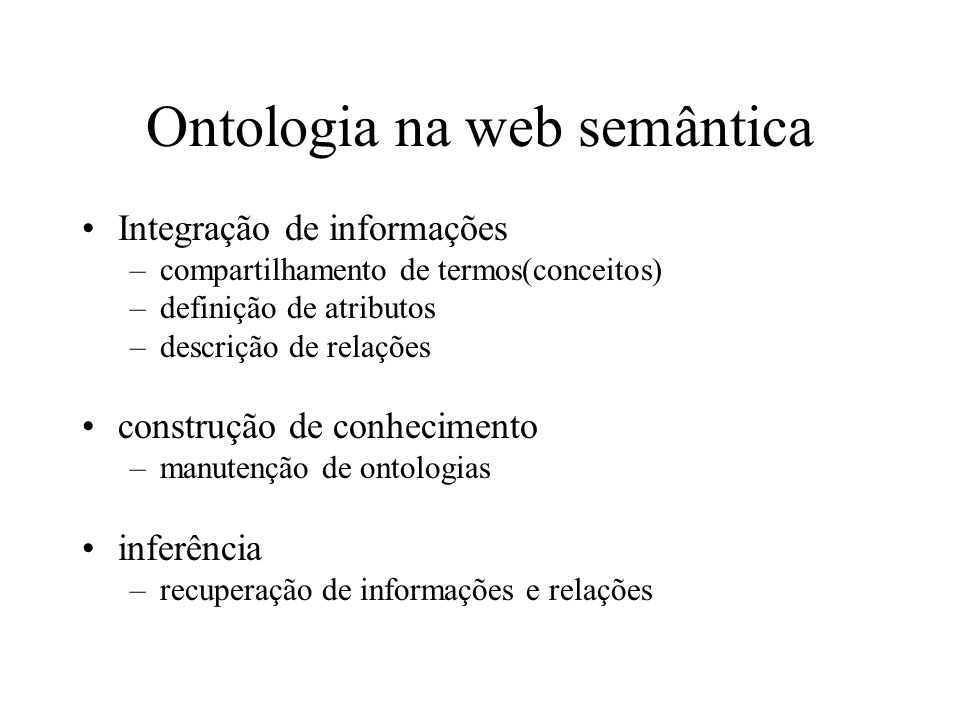 Ontologia na web semântica