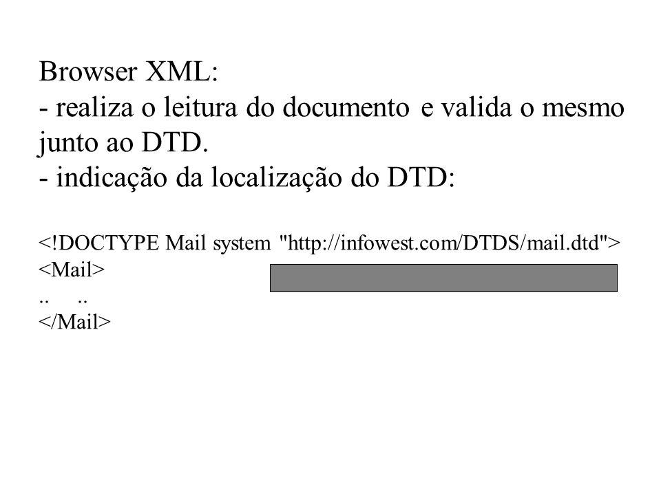 - realiza o leitura do documento e valida o mesmo junto ao DTD.