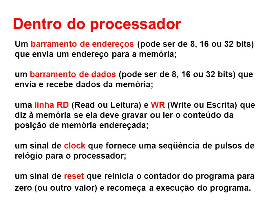 Dentro do processador