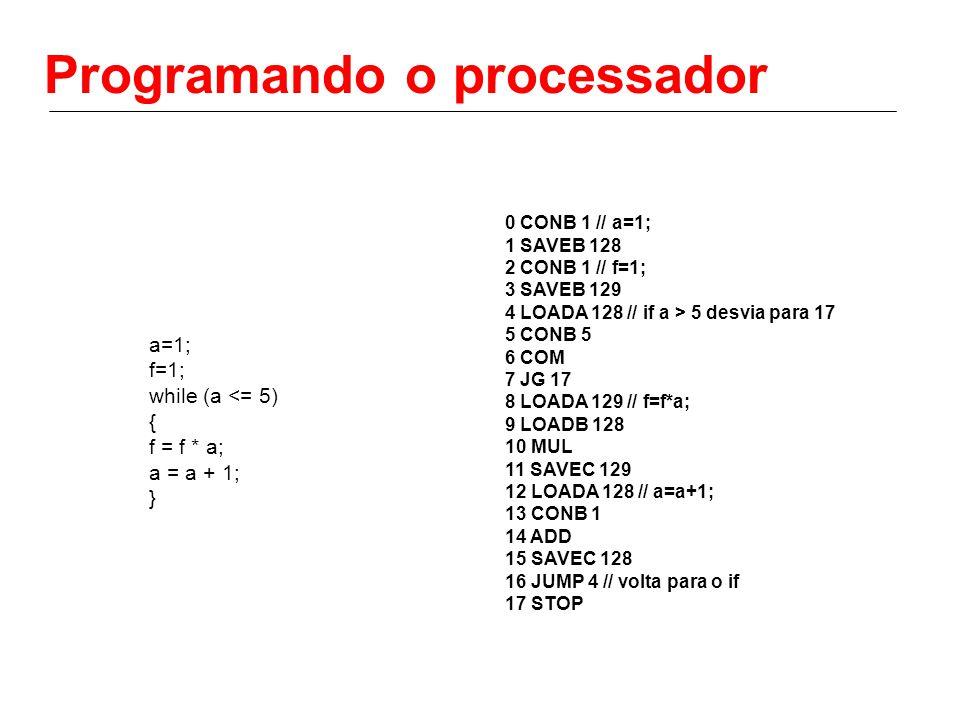 Programando o processador