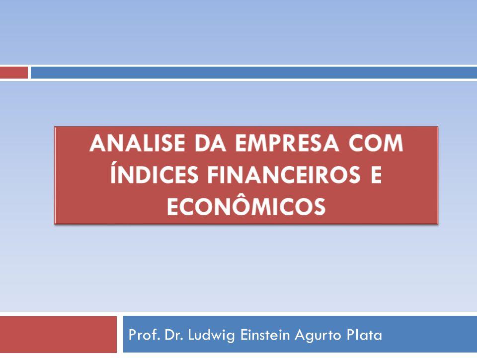 Analise da empresa com índices financeiros e econômicos