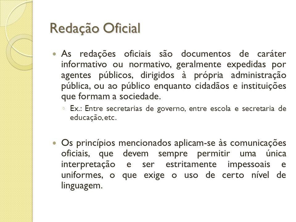 Redação Oficial