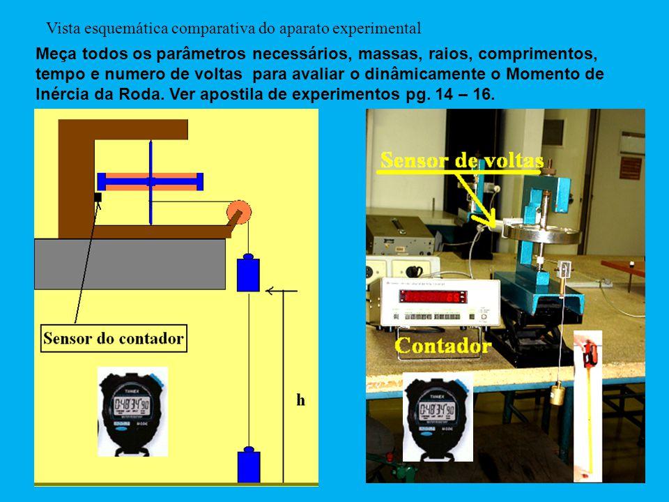 Vista esquemática comparativa do aparato experimental