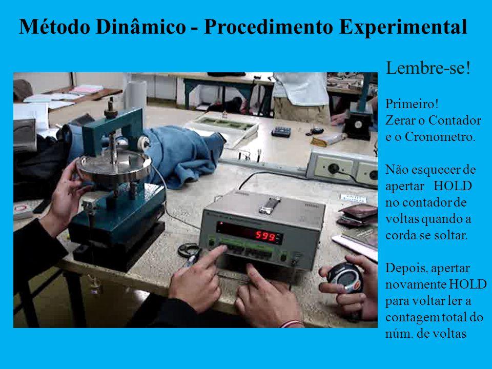 Método Dinâmico - Procedimento Experimental