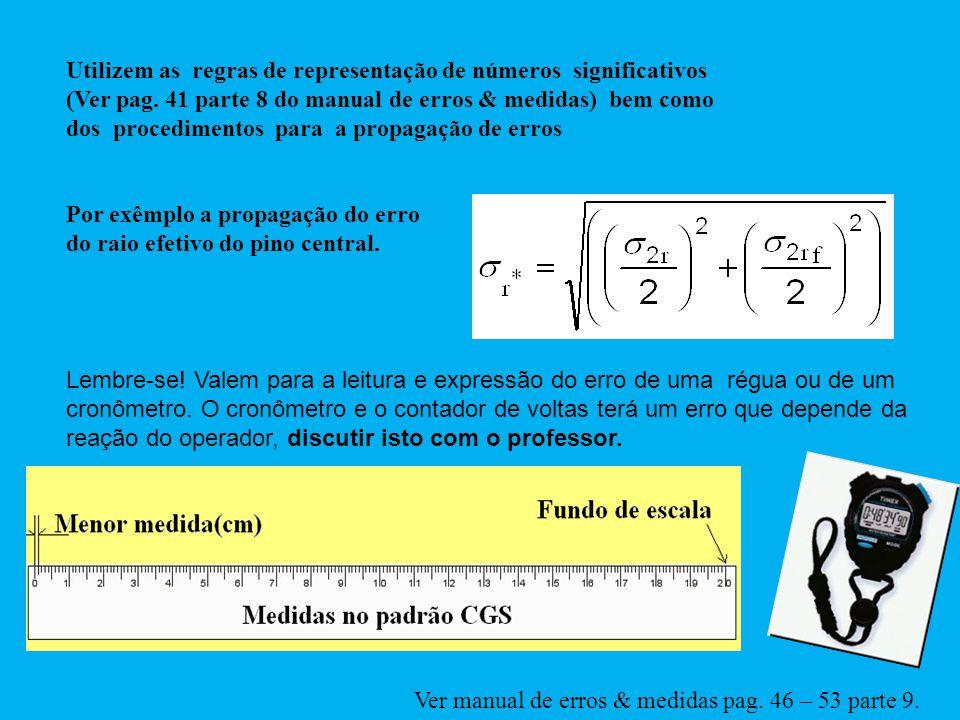 Utilizem as regras de representação de números significativos