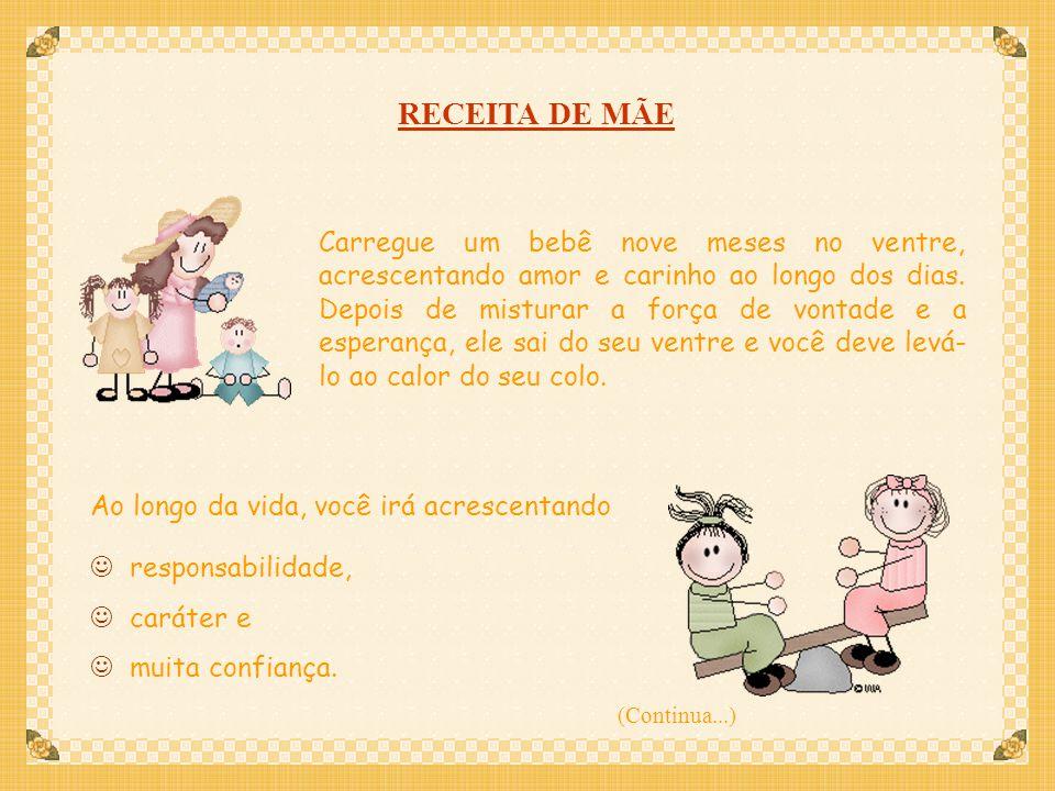 RECEITA DE MÃE
