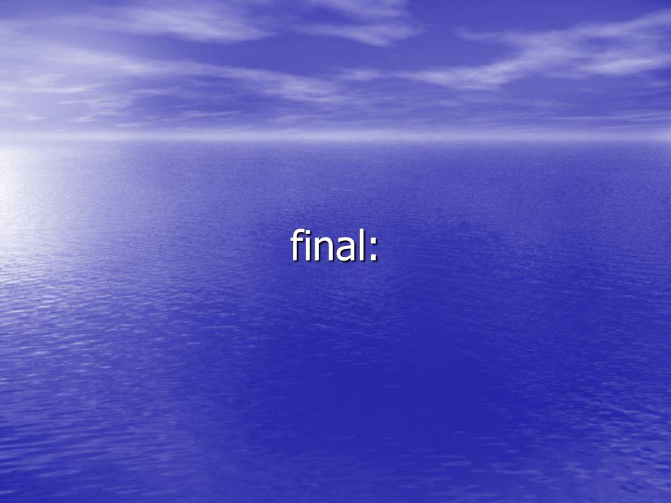 final: