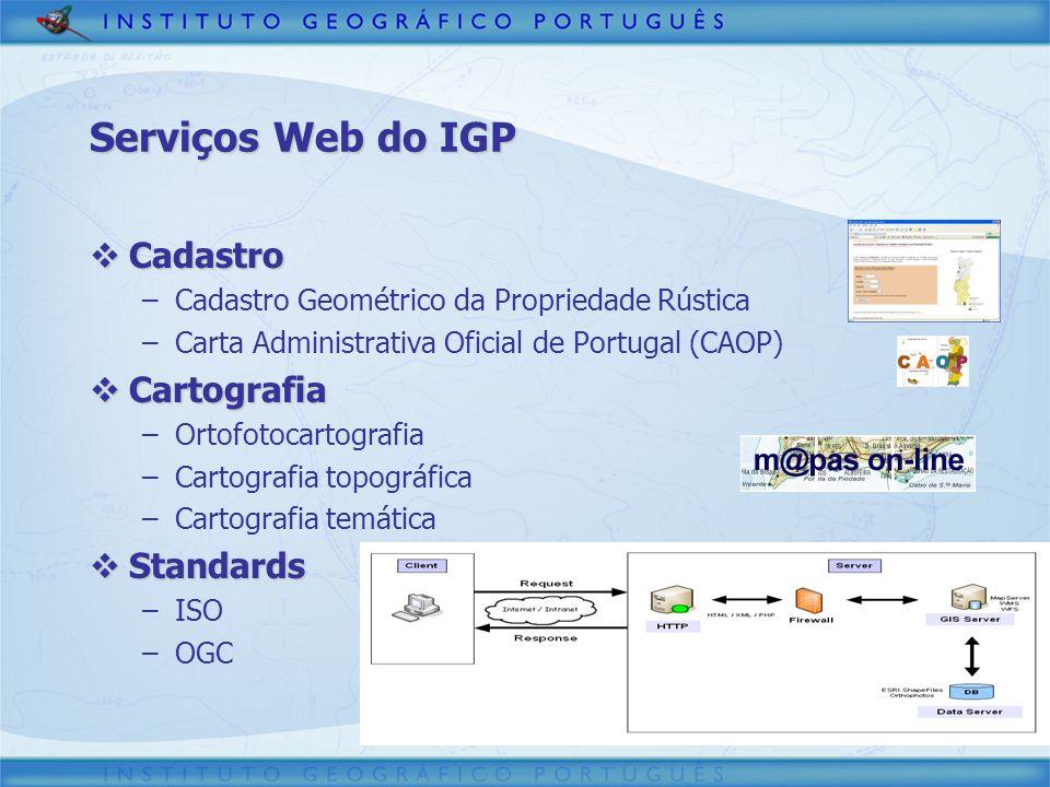 Serviços Web do IGP Cadastro Cartografia Standards