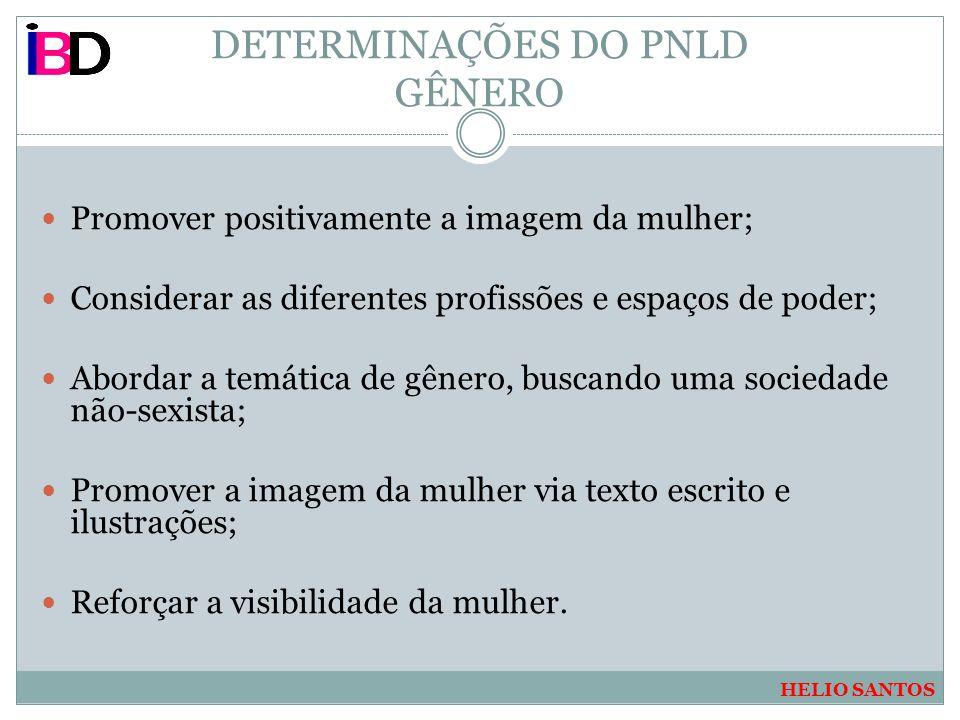 DETERMINAÇÕES DO PNLD GÊNERO