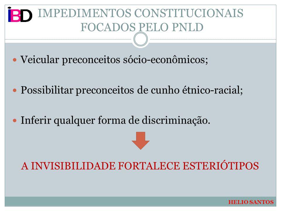 IMPEDIMENTOS CONSTITUCIONAIS FOCADOS PELO PNLD
