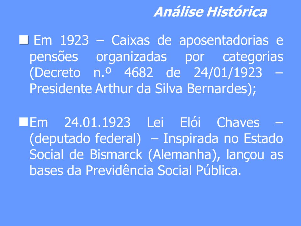 Análise Histórica