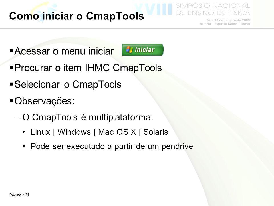 Como iniciar o CmapTools