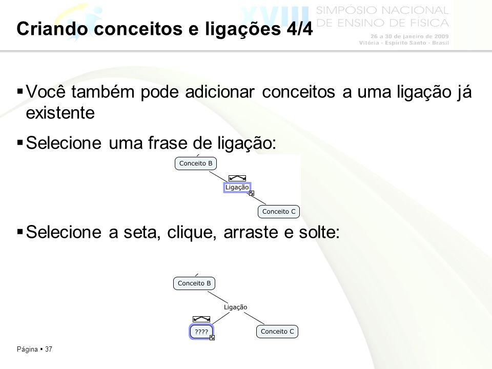 Criando conceitos e ligações 4/4