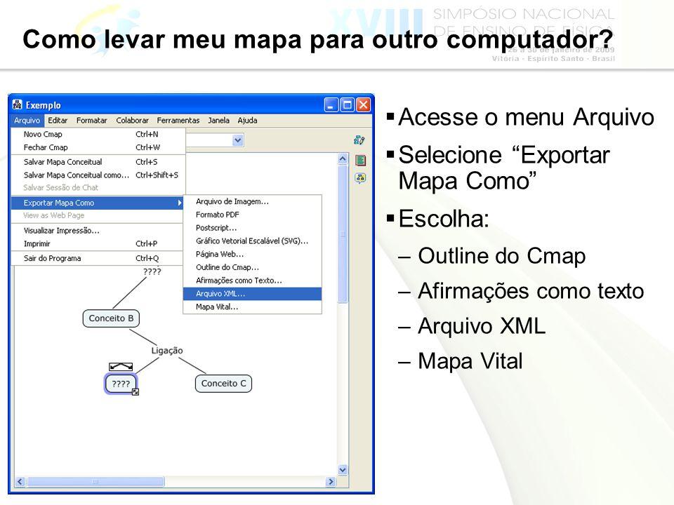 Como levar meu mapa para outro computador