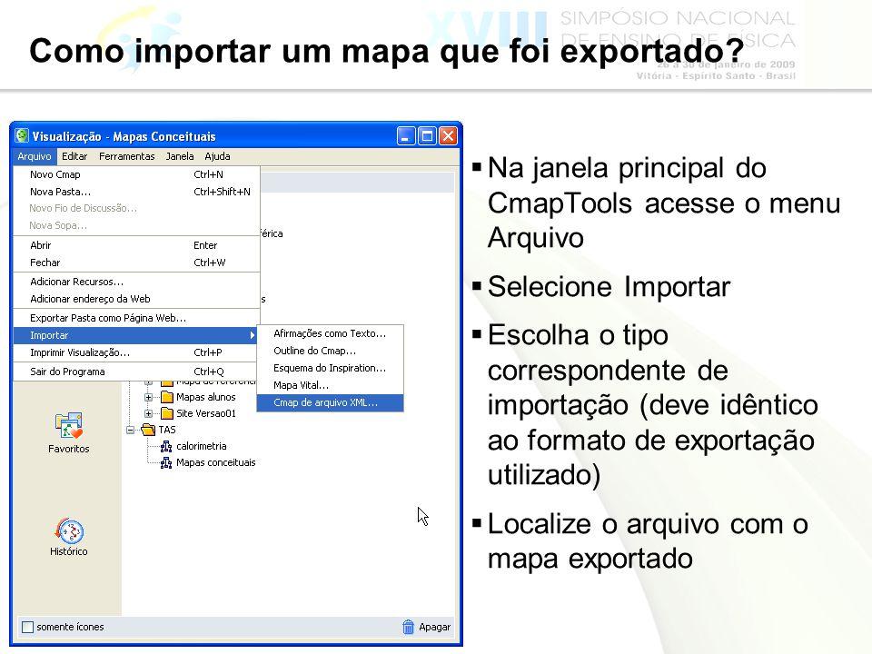 Como importar um mapa que foi exportado