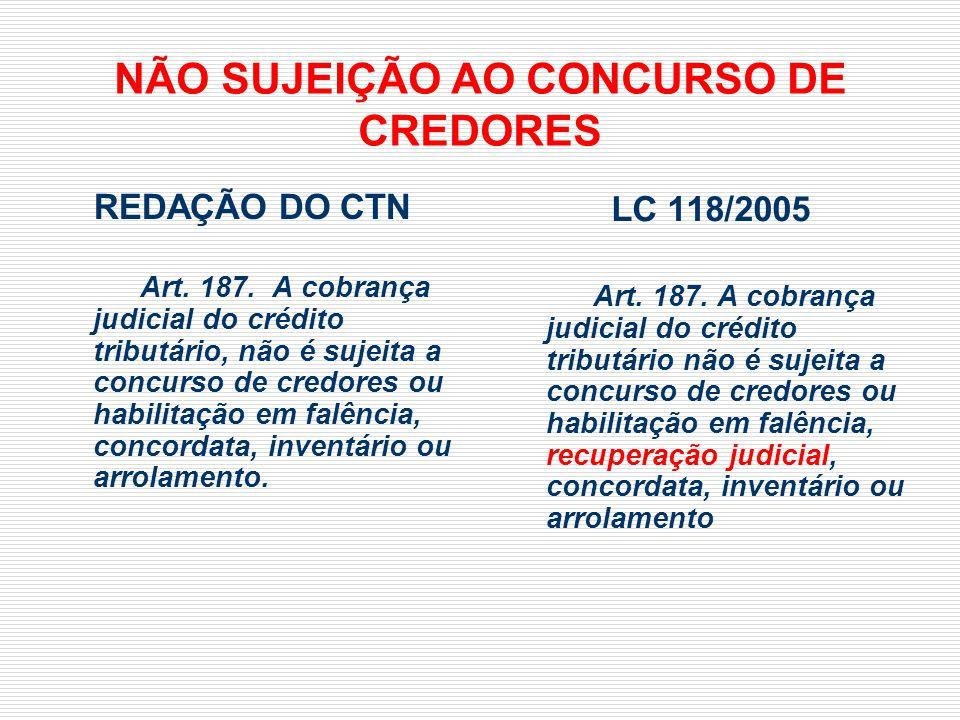 NÃO SUJEIÇÃO AO CONCURSO DE CREDORES