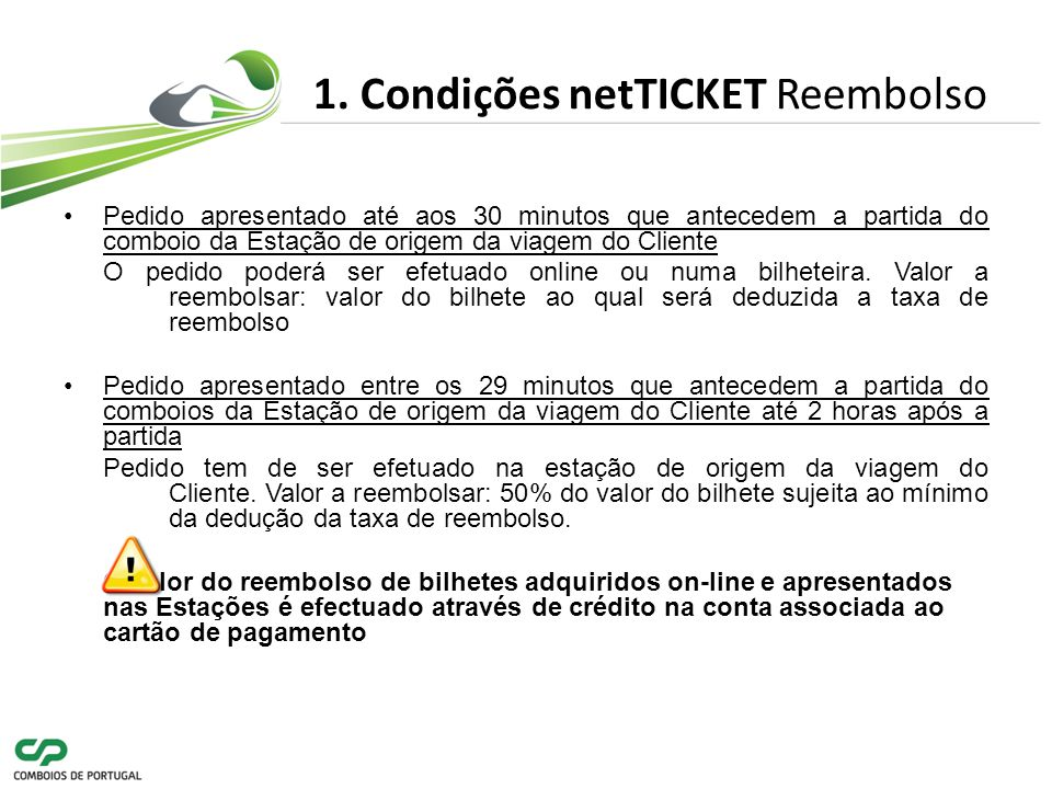 1. Condições netTICKET Reembolso