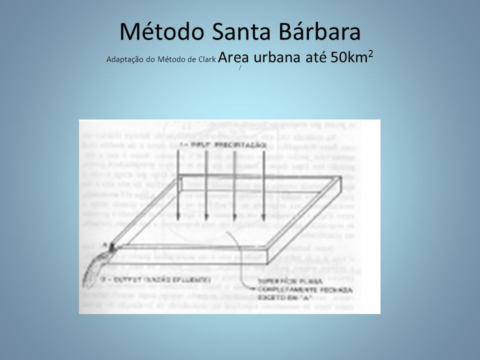 Método Santa Bárbara Adaptação do Método de Clark Area urbana até 50km2 /