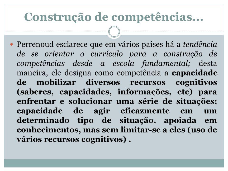 Construção de competências...
