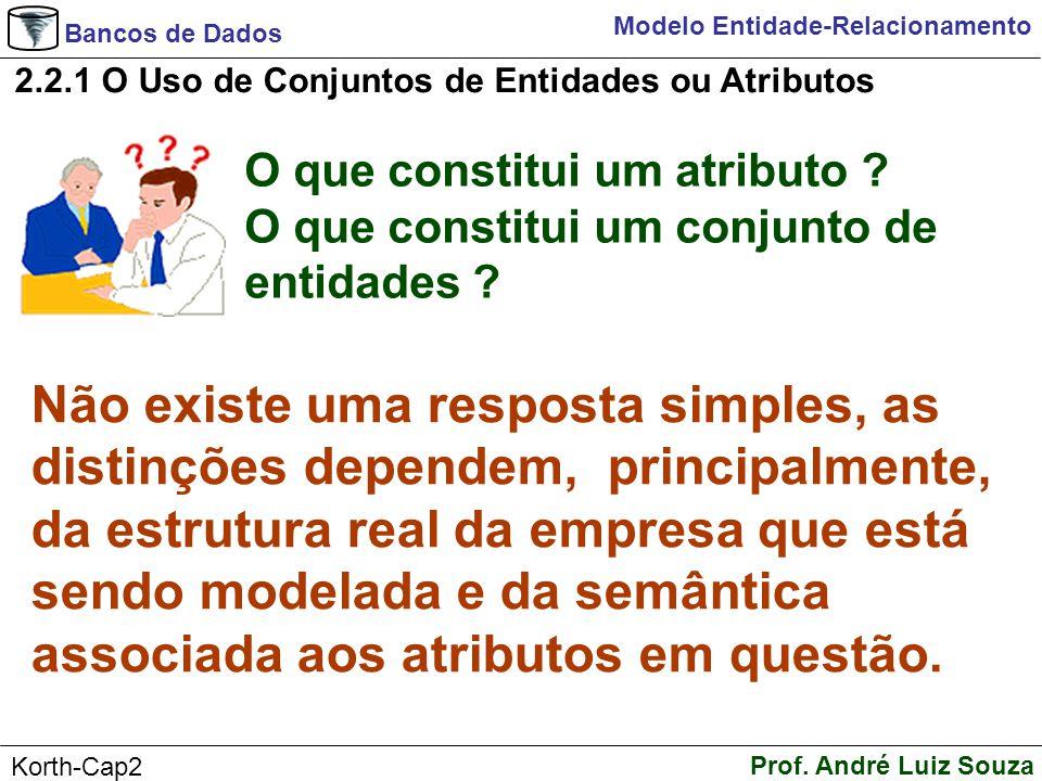 2.2.1 O Uso de Conjuntos de Entidades ou Atributos