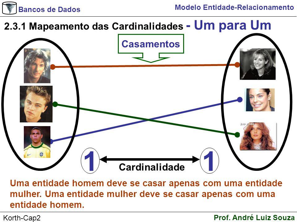 1 2.3.1 Mapeamento das Cardinalidades - Um para Um Casamentos