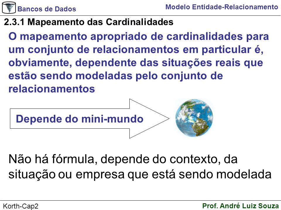 2.3.1 Mapeamento das Cardinalidades