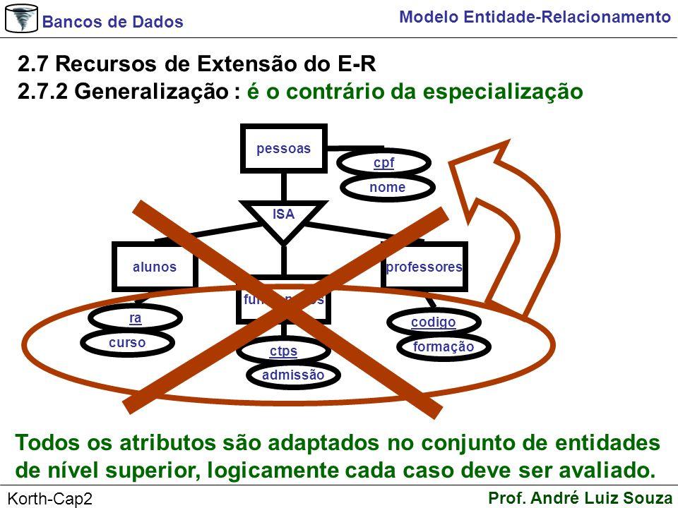 2.7 Recursos de Extensão do E-R