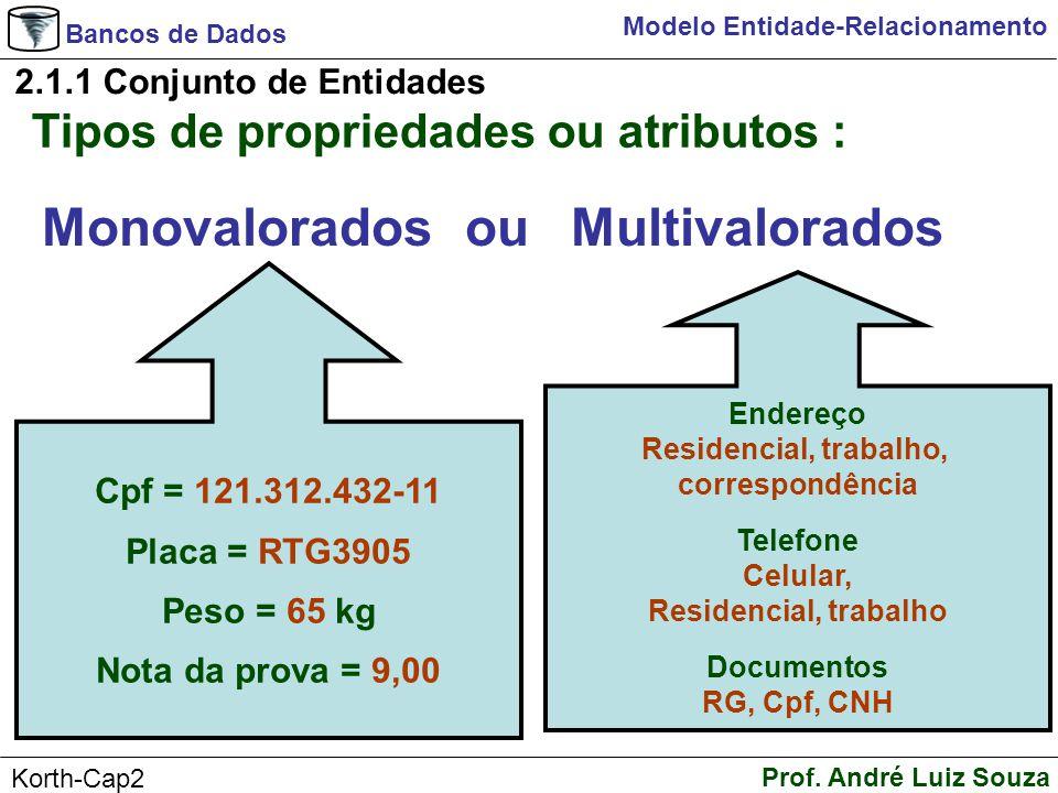 Monovalorados ou Multivalorados