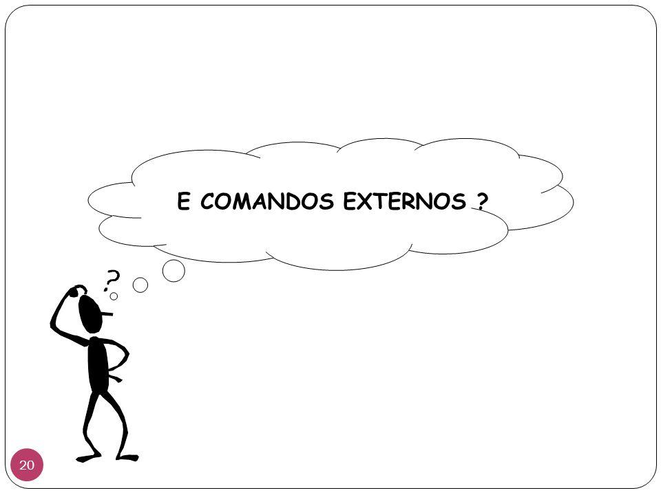 E COMANDOS EXTERNOS