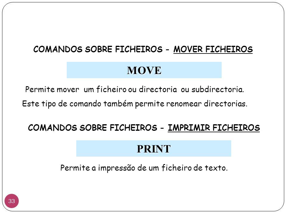 MOVE PRINT COMANDOS SOBRE FICHEIROS - MOVER FICHEIROS