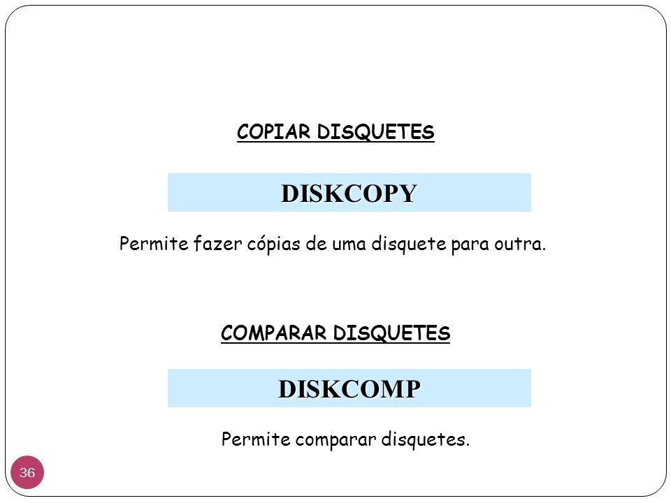 DISKCOPY DISKCOMP COPIAR DISQUETES