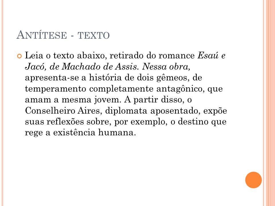 Antítese - texto