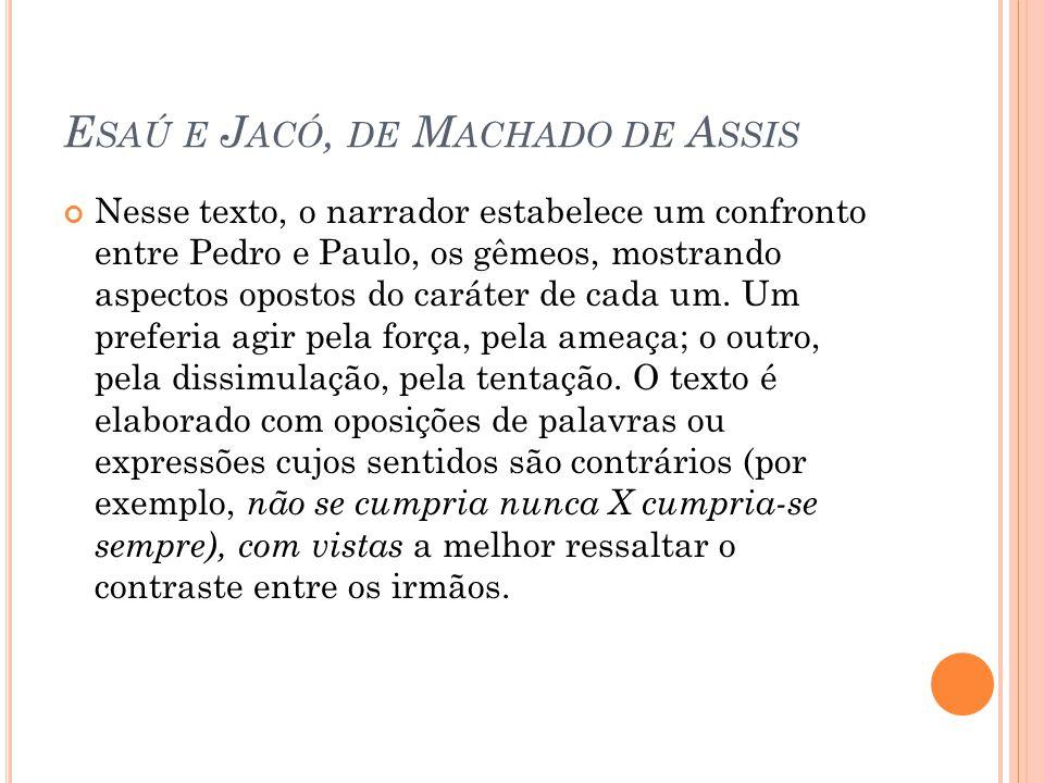 Esaú e Jacó, de Machado de Assis