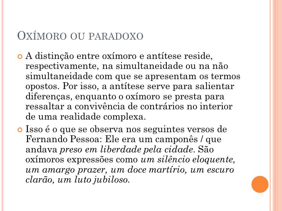 Oxímoro ou paradoxo