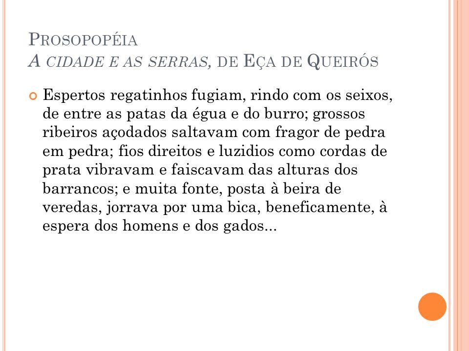 Prosopopéia A cidade e as serras, de Eça de Queirós